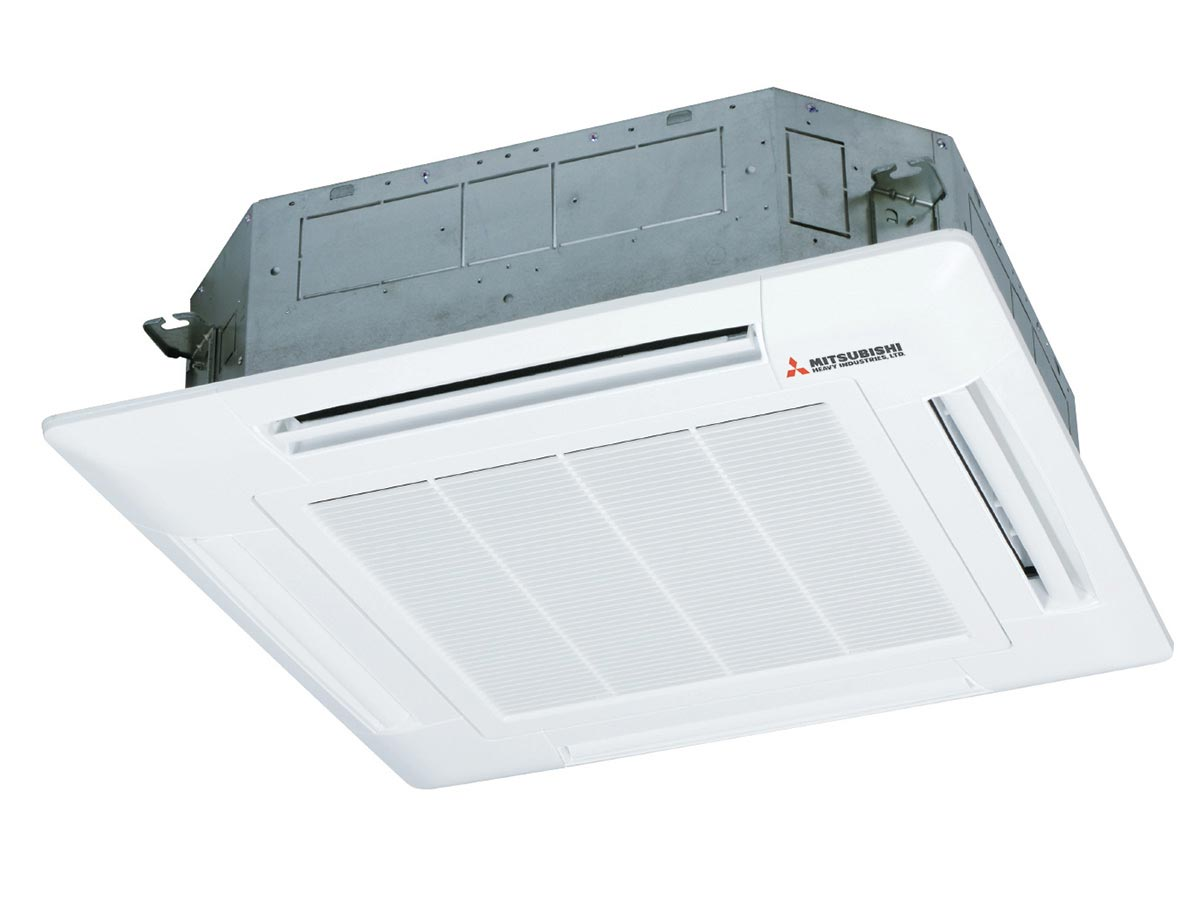14kW Mitsubishi Heavy Industries Cassette Reverse Cycle Inverter Split System Air Conditioner